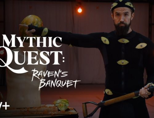 Rob McElhenney Walks the Rouge Stage in Apple TV's Mythic Quest